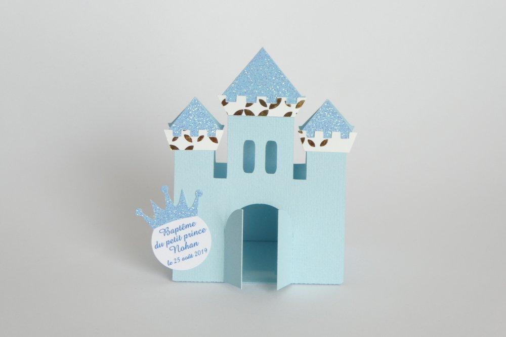 Boîte château bleue
