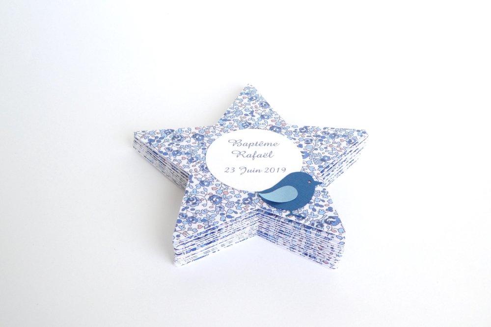 Menu étoile Eloïse bleu