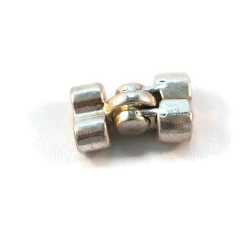 Fermoir aimant magnétique bijoux vêtement bracelet métal argenté 22x15 mm
