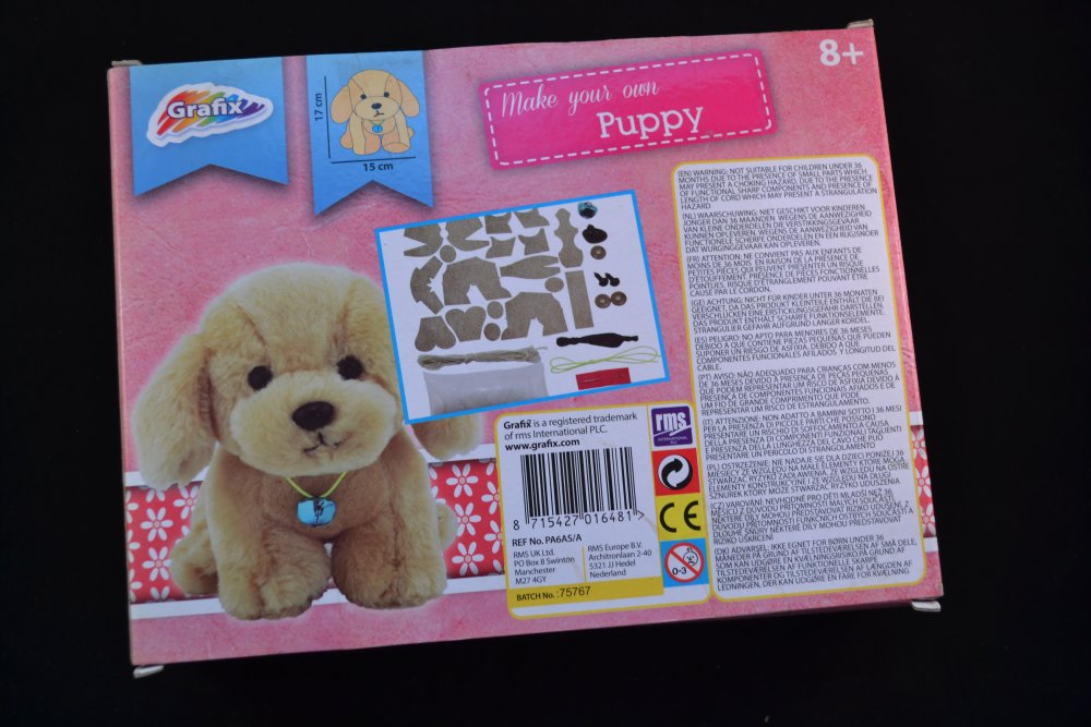 kit fabrication d'une peluche chiot petit chien doux mignon cute
