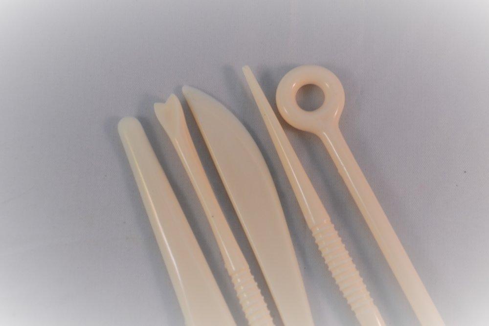 lot x 5 outils sculpture modelage pâte cuisine polymère argile divers