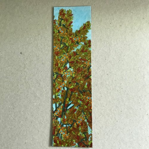 Marque-page - sédum estival et geckos