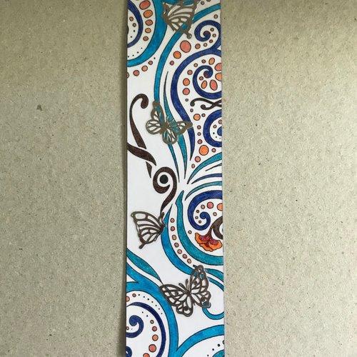 Marque-page - papillon bleu