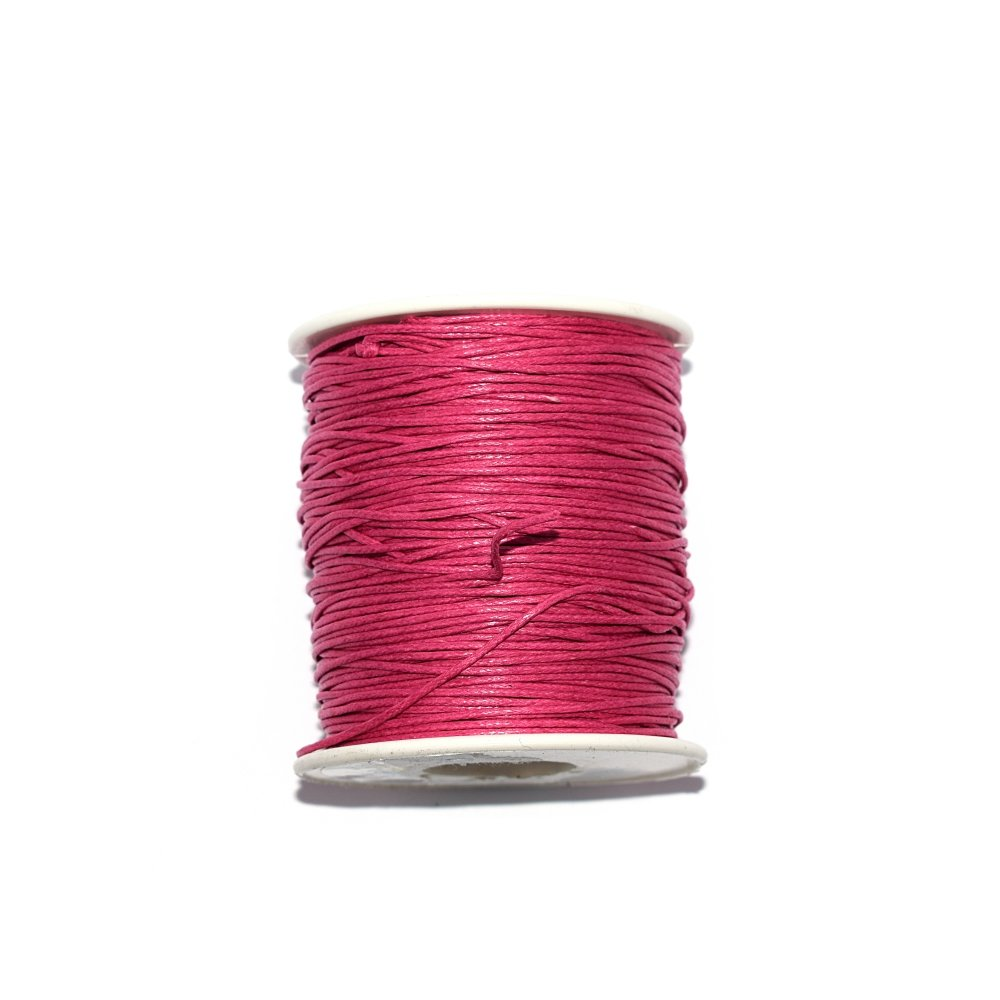 Coton ciré 1 mm fuchsia x 1 m