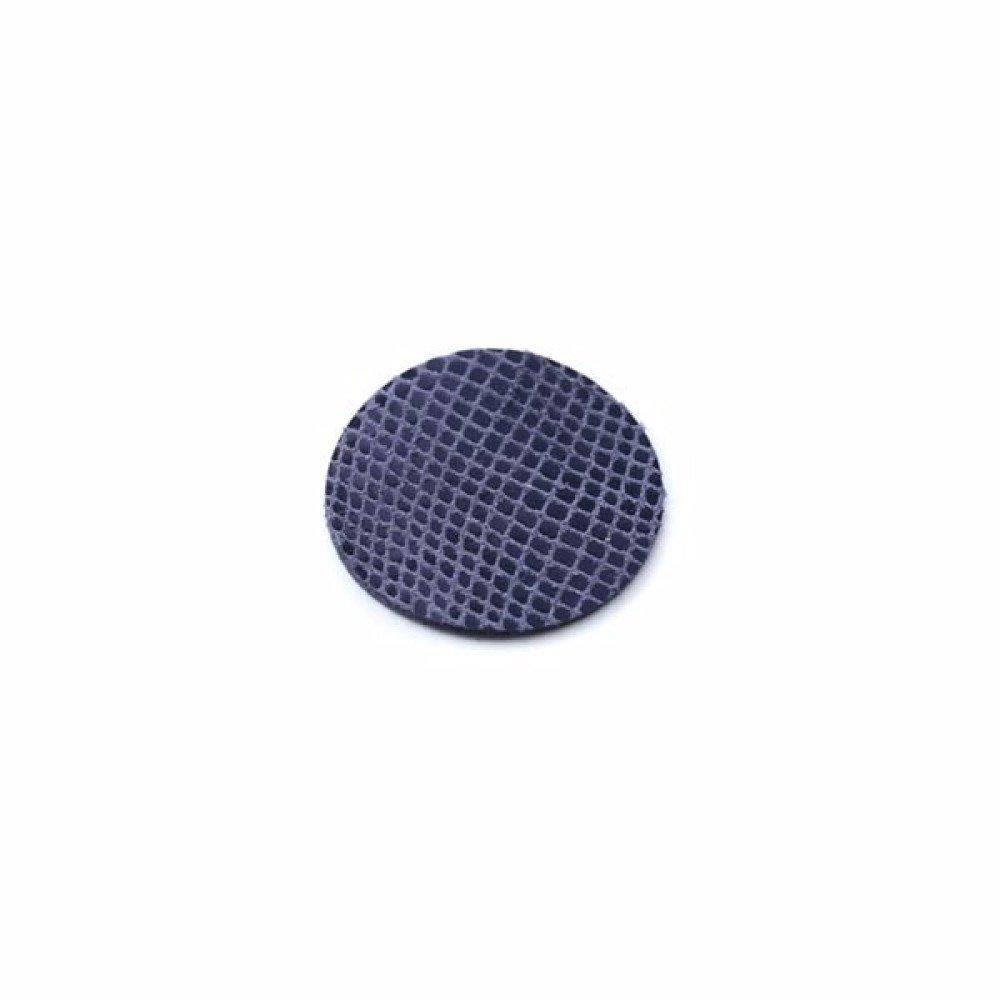 Rond de cuir 15 mm serpent bleu marine
