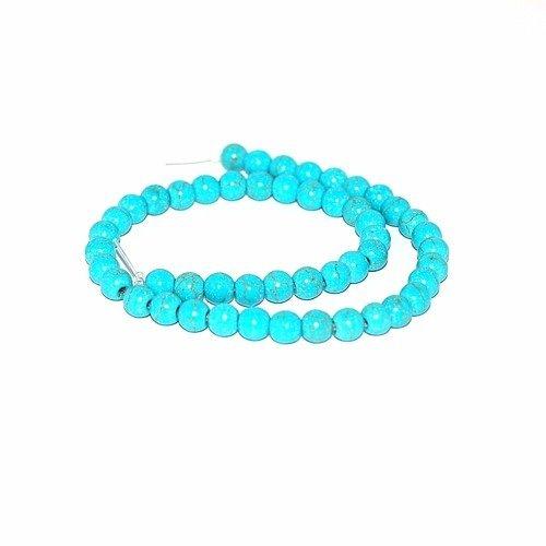 Perle naturelle turquoise 6 mm x10