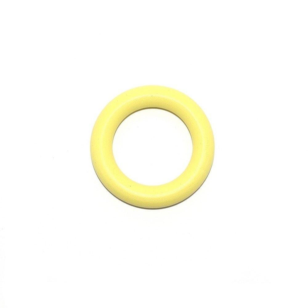Anneau de dentition rond en bois jaune 56mm