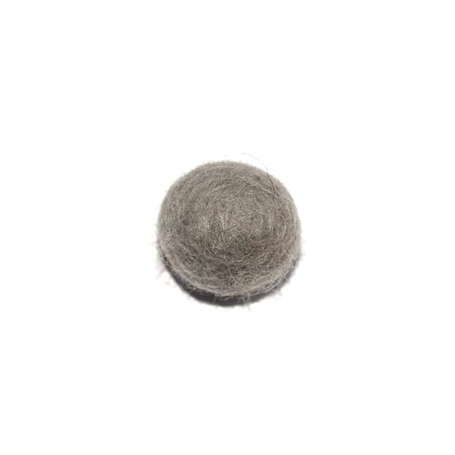 Boule en laine feutrée/feutrine 20 mm gris
