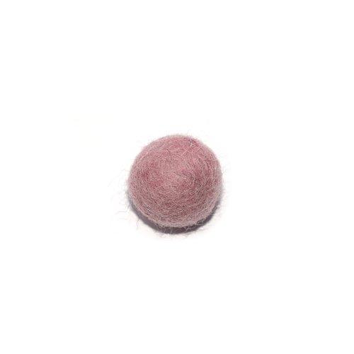 Boule en laine feutrée/feutrine 20 mm vieux rose