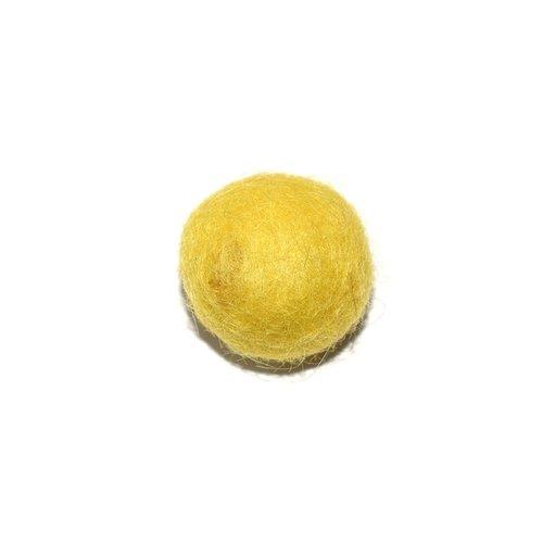 Boule en laine feutrée/feutrine 20 mm jaune clair
