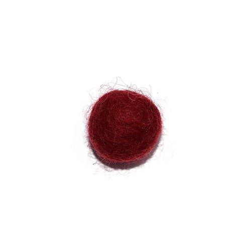 Boule en laine feutrée/feutrine 20 mm bordeaux