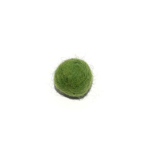 Boule en laine feutrée/feutrine 20 mm vert