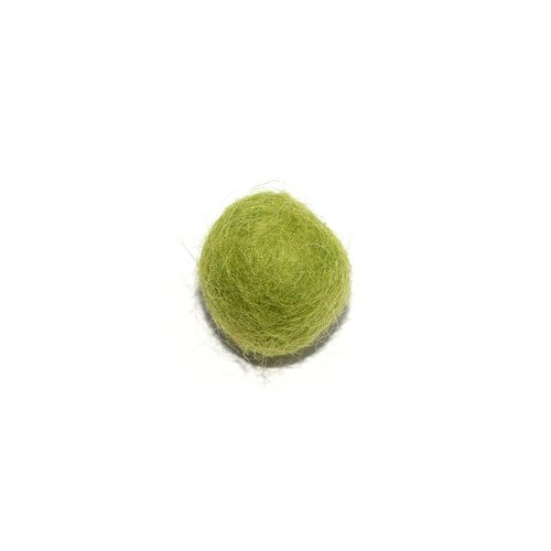 Boule en laine feutrée/feutrine 20 mm vert clair