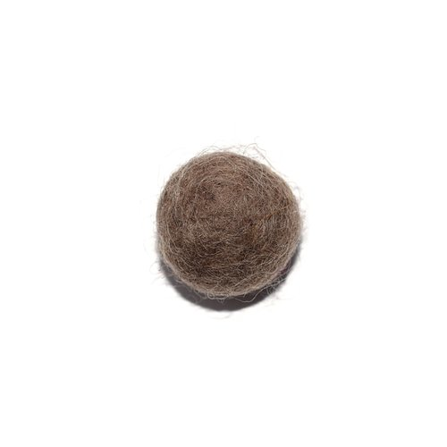 Boule en laine feutrée/feutrine 20 mm taupe