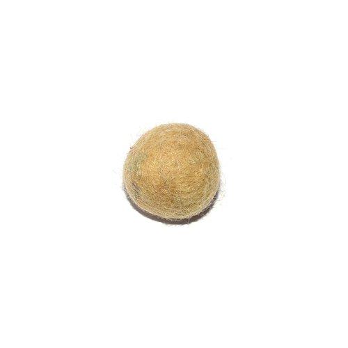 Boule en laine feutrée/feutrine 20 mm beige