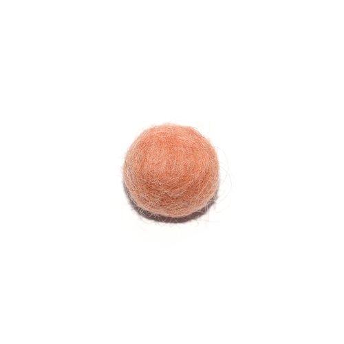 Boule en laine feutrée/feutrine 20 mm champagne doré