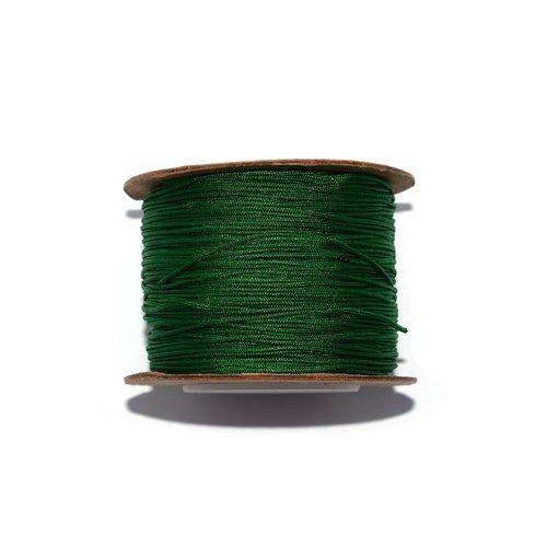 Fil nylon tressé 0,8 mm vert foncé x10 m