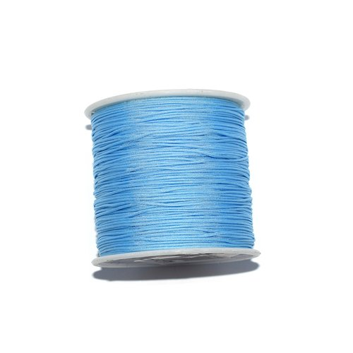 Fil nylon tressé 0,8 mm bleu clair x10 m