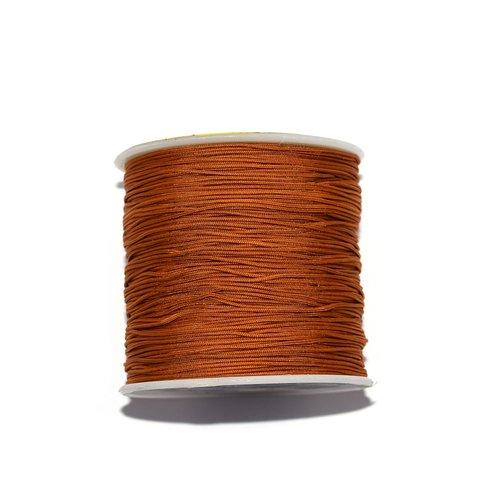 Fil nylon tressé 0,8 mm orange rouille foncé x10 m