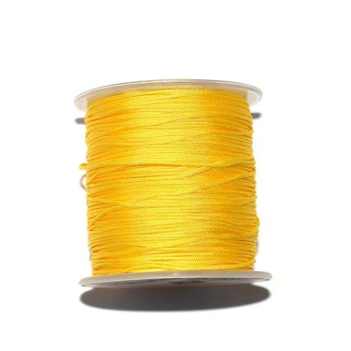 Fil nylon tressé 1 mm jaune x10 m