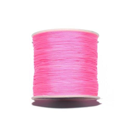 Fil nylon tressé 0,8 mm rose fluo x10 m