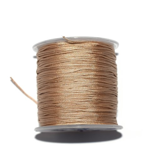 Fil nylon tressé 1,5 mm beige foncé x10 m