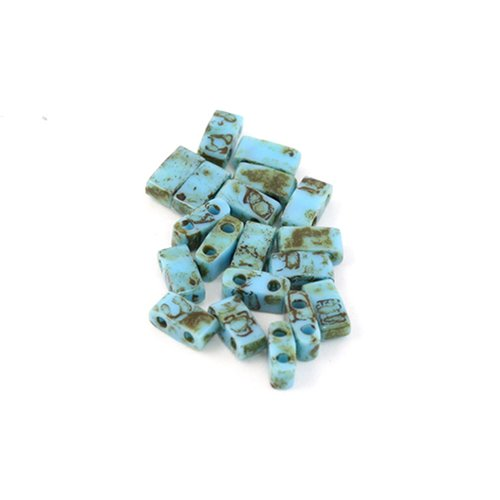 5 g miyuki half tila turquoise blue picasso htl-4514