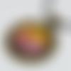 Collier arbre orangé