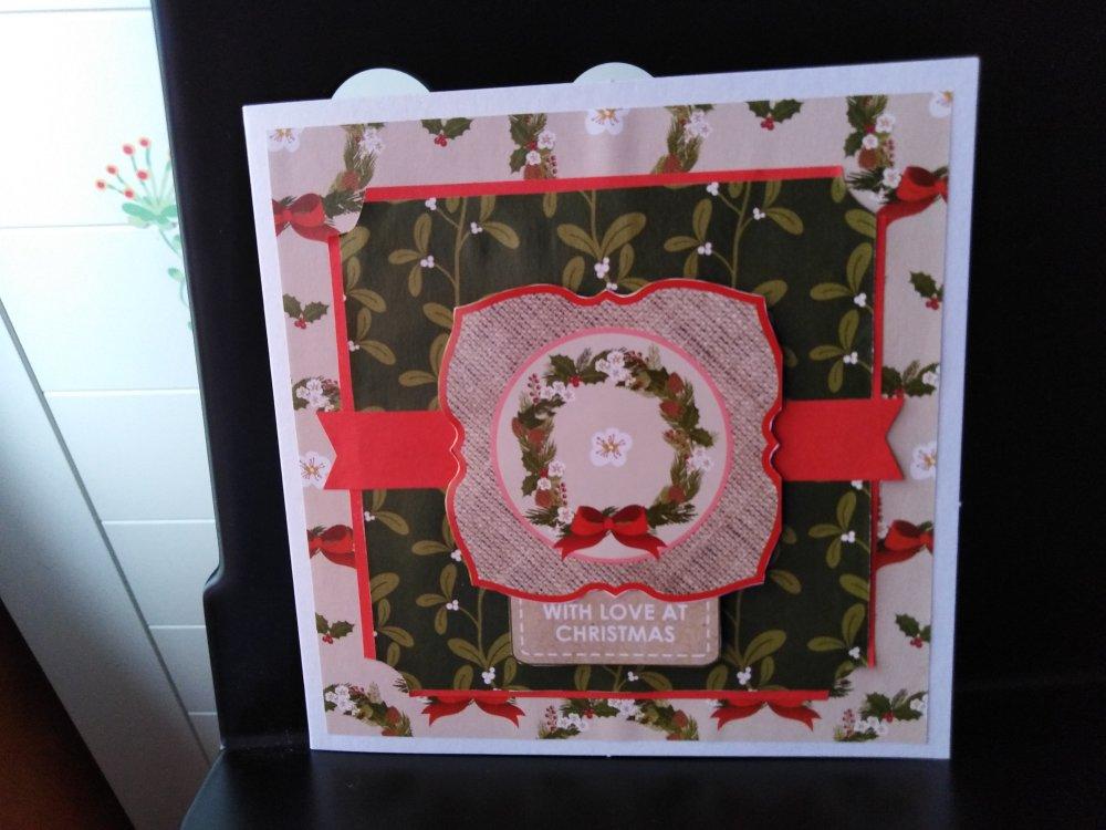 """Carte de Noël """"houx"""""""