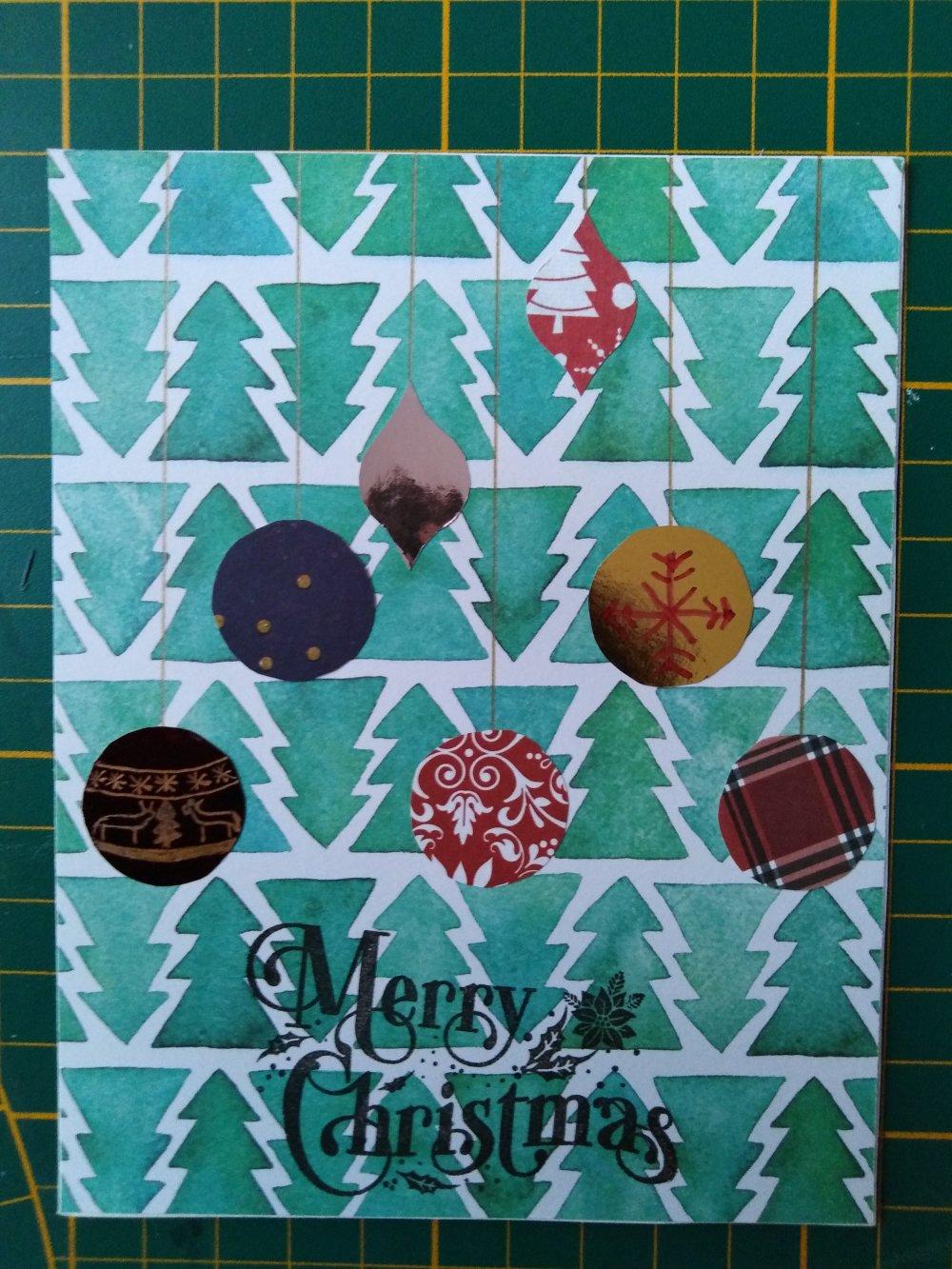 "Carte de Noël ""boules de Noël"""
