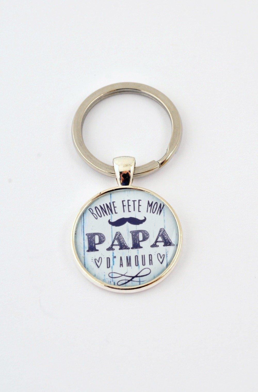 """Porte-clef """"Bonne fête mon papa d'amour"""""""