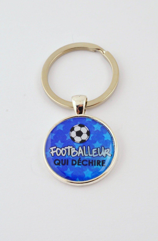 """Porte-clefs """"Footballeur qui déchire"""""""