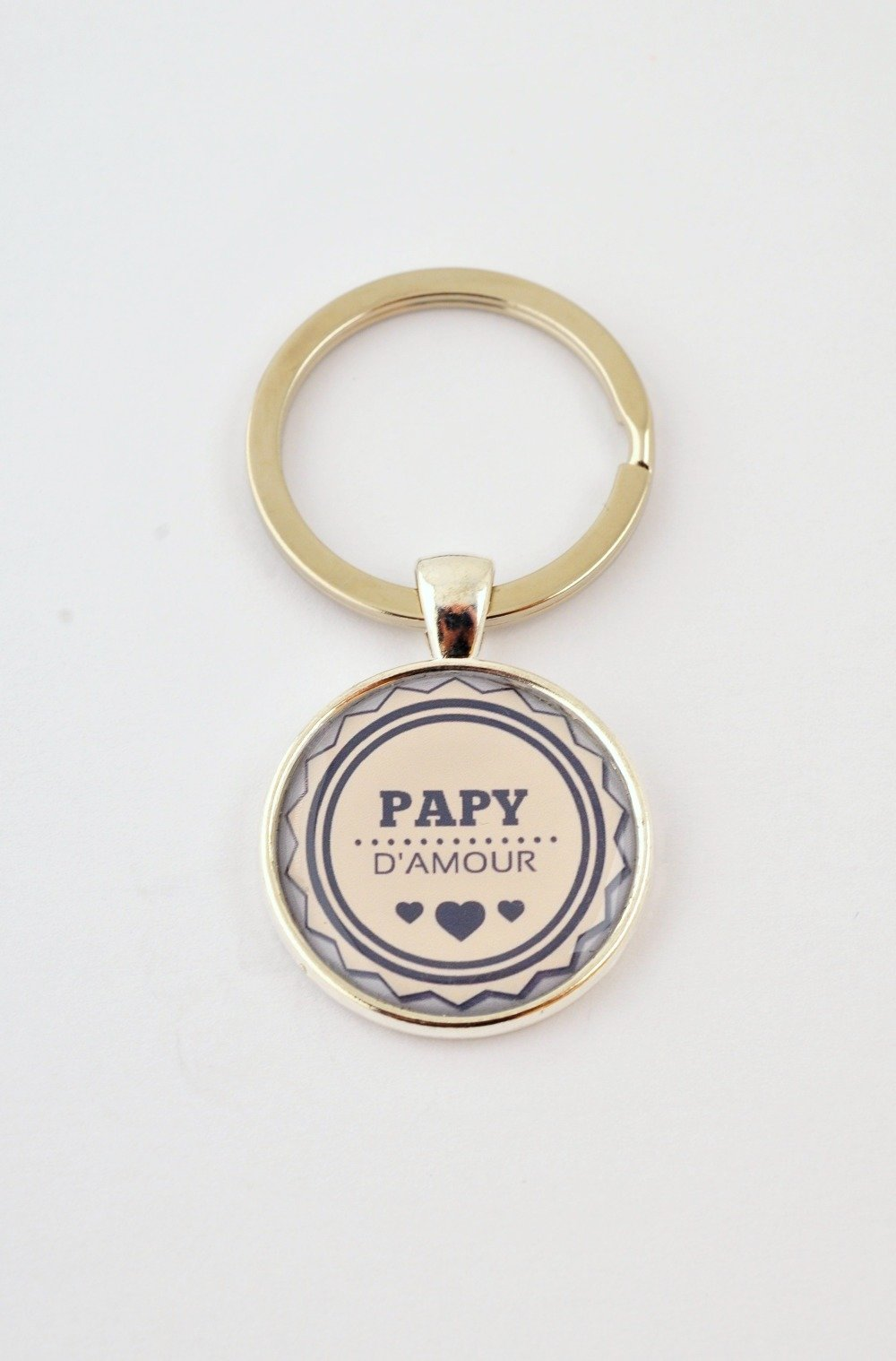 """Porte-clefs """"Papy d'amour"""""""