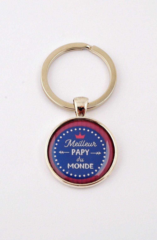 """Porte-clefs """"Meilleur papy du monde"""""""