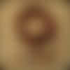 1 mètre en cuir ruban brillant, effet peau de serpent, camel / fuchsia / noir