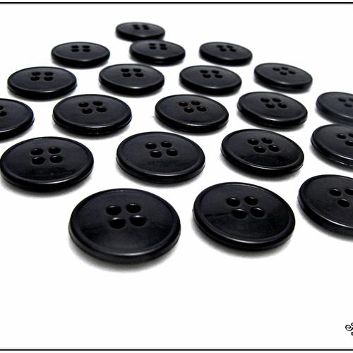 Bouton Boutons 40 Pièce noir blanc boutons 11 mm grand #2012#