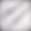 Chaîne pour sac à main, couleur argent, long 60 cm, complètent avec des anneaux, des mousquetons