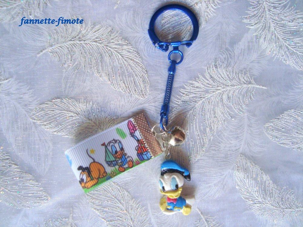 Porte Clé Pâte polymère Fimo Enfant Thème Walt Disney Donald - Fait main