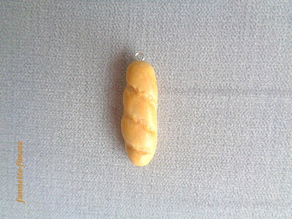 Breloque Gourmandise Viennoiserie Boulangerie Baguette de pain en Pâte polymère Fimo - Vendu à l'unité