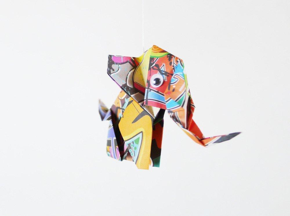 Mobile origami éléphants