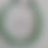 Ras de cou perles vertes deux tons