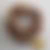 Bracelet memoire de forme perles agates marron