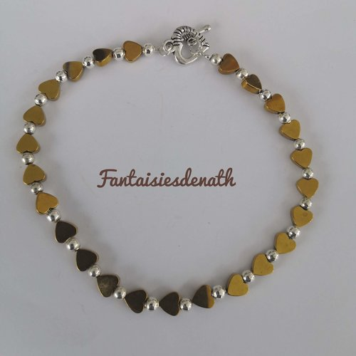Chaine bracelet de cheville coeur or