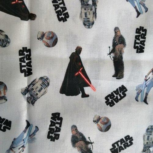 Tissu coton motifs star wars   l:50 x h:50