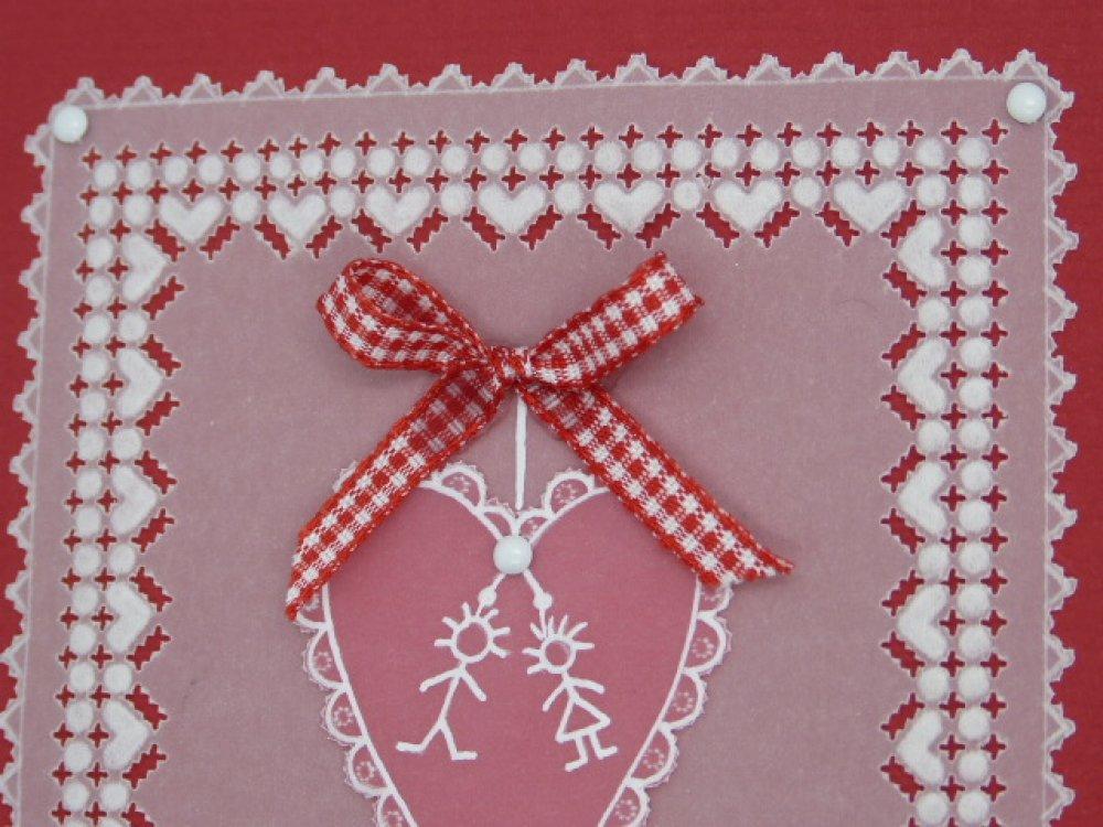 Carte Mariage en dentelle de papier