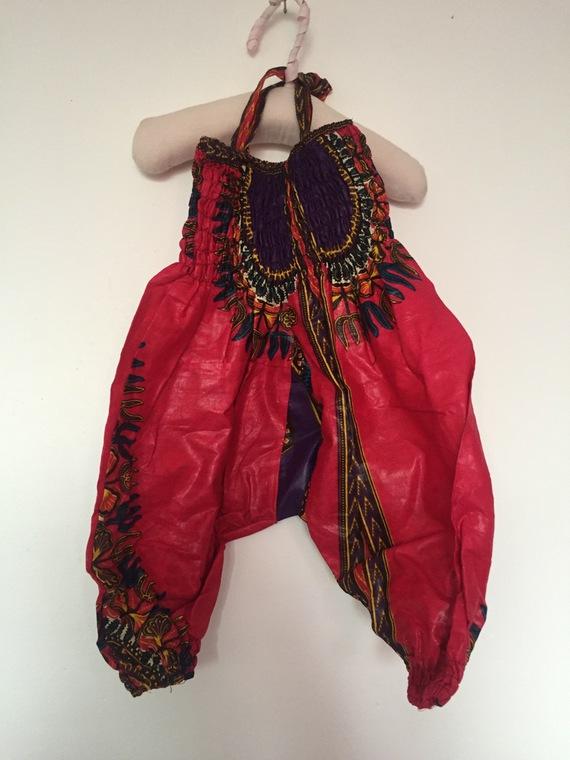 Combinaison sarouel enfant Dashiki couleur multicolore