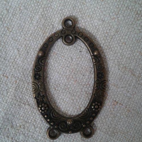 Lot de 2 connecteurs ovales, en bronze