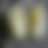 Chaussons kimono jaune pale, t0/3 mois