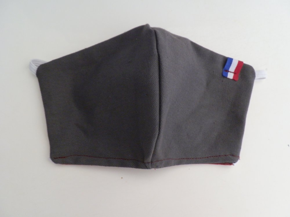 Masque de protection en tissu gris