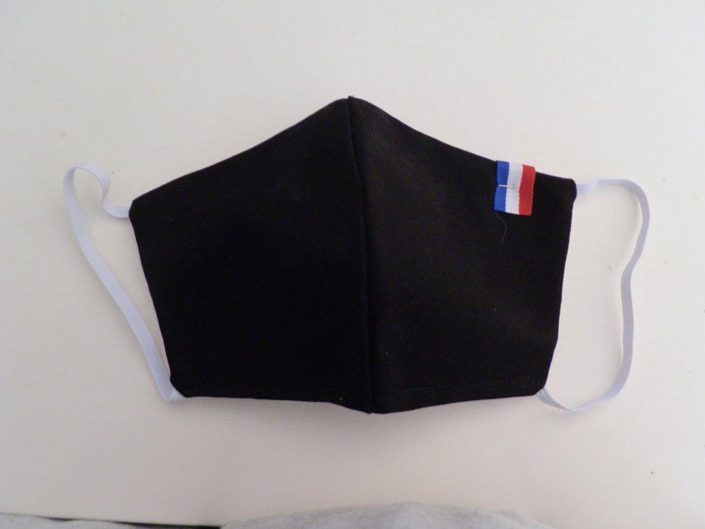 Masque de protection en tissu noir
